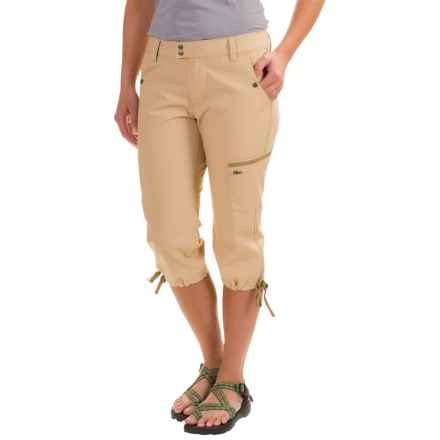 Mountain Khakis Stretch Poplin Capris - Slim Fit (For Women) in Khaki - Closeouts