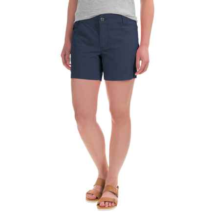 Mountain Khakis Stretch-Poplin Shorts - Slim Fit, Low Rise (For Women) in Midnight Blue - Closeouts