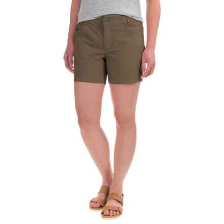 Mountain Khakis Stretch-Poplin Shorts - Slim Fit, Low Rise (For Women) in Terra - Closeouts