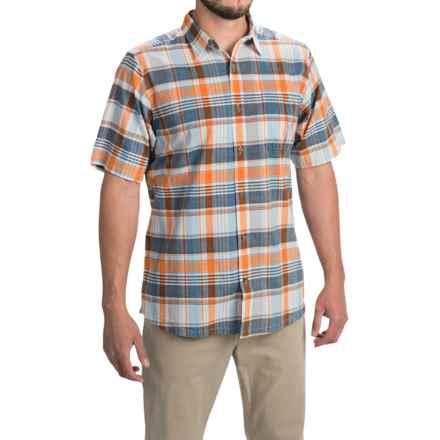Mountain Khakis Tomahawk Madras Shirt - Short Sleeve (For Men) in Cantaloupe Multi - Closeouts