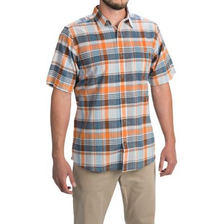 Mountain Khakis Tomahawk Madras Shirt - Short Sleeve (For Men) in Cantaloupe Multi
