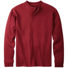 Mountain Khakis Trapper Henley Shirt - Long Sleeve (For Men) in Engine Red - Closeouts