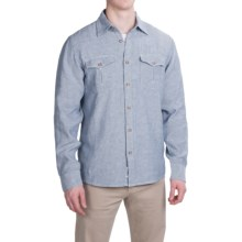 Mountain Khakis Yak Shirt - Organic Cotton Blend, Long Sleeve (For Men) in Bahama Blue/Linen - Closeouts