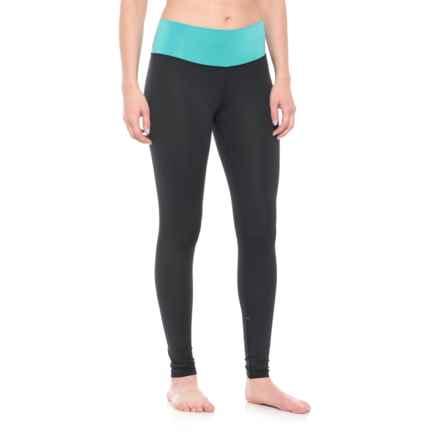Mountain Logic Polartec® Power Stretch® Pro Levitation Tights (For Women) in Black/Aquatic - Closeouts