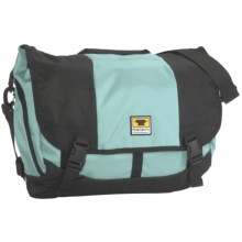Mountainsmith Messenger Bag - Large, Recycled Materials in Blue Frost/Black - Closeouts