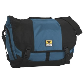 Mountainsmith Messenger Bag - Large, Recycled Materials in Lotus Blue/Blue