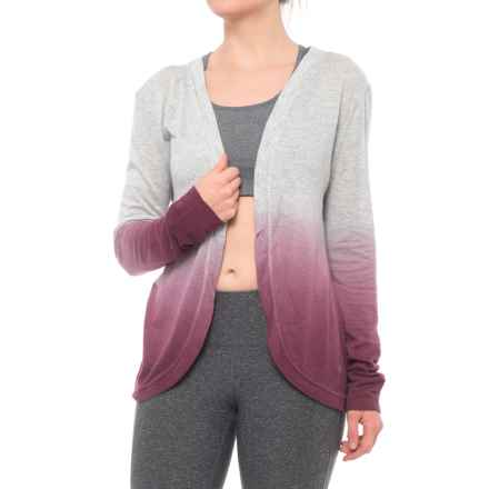 MOVEMENT After Studi Ombre Cardigan Wrap (For Women) in Merlot - Closeouts