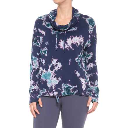 MOVEMENT Tie-Dye Cowl Neck Sweatshirt (For Women) in Purple - Closeouts