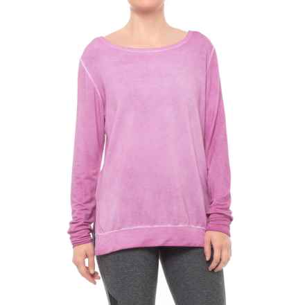 MOVEMENT Twistback Keyhole Shirt - Long Sleeve (For Women) in Magenta - Closeouts
