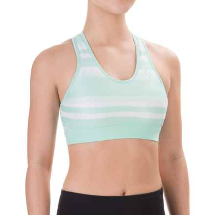 Moving Comfort Brooks SureShot Racer Sports Bra - Medium Impact, Racerback (For Women) in Surf Scape - Closeouts