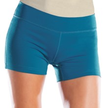 "Moving Comfort Compression Shorts - 4"" (For Women) in Blizzard - Closeouts"