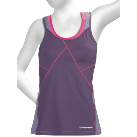 Moving Comfort Distance Support Tank Top - A/B (For Women) in Sunset
