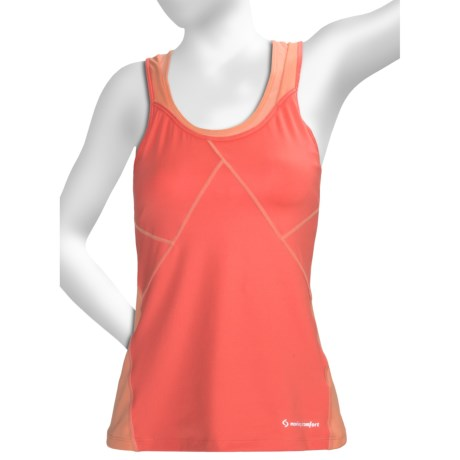 Moving Comfort Distance Support Tank Top - C/D (For Women) in Sunset