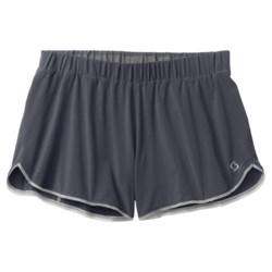 Moving Comfort Endurance Shorts (For Women) in Ebony/Bling