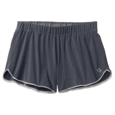Moving Comfort Endurance Shorts (For Women) in Ebony/Bling