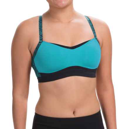 Moving Comfort FineForm Sports Bra - Medium Impact (For Women) in Azure Lace - Closeouts