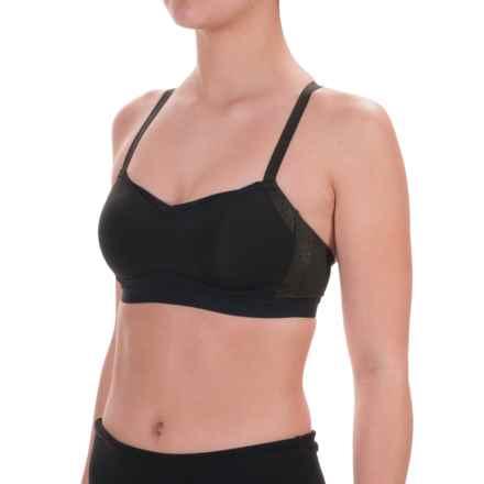 Moving Comfort FineForm Sports Bra - Medium Impact (For Women) in Black/Sol Shine - Closeouts