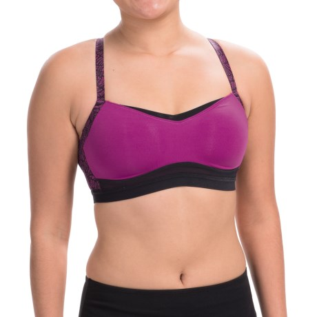 Moving Comfort FineForm Sports Bra - Medium Impact (For Women) in Currant Lace