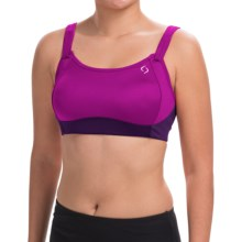 Moving Comfort Fiona Sports Bra - High Impact (For Women) in Currant - Closeouts