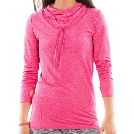 Moving Comfort Flex Hoodie Sweatshirt (For Women) in Pixie Heather