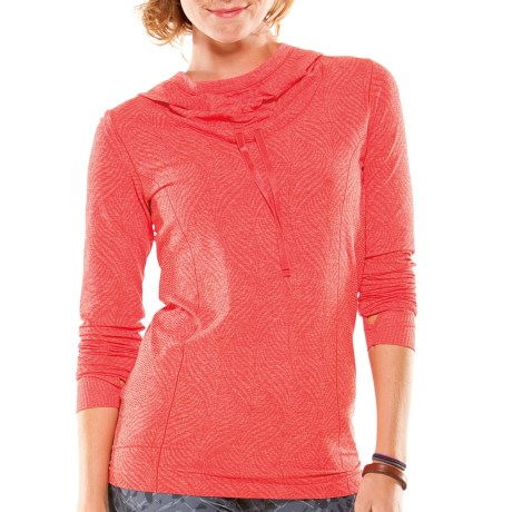 Moving Comfort Flex Hoodie Sweatshirt (For Women) in Red Hot Heather