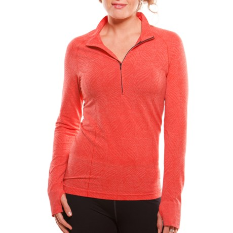 Moving Comfort Flex Shirt - Long Sleeve (For Women) in Red Hot Heather