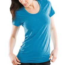 Moving Comfort Flex T-Shirt - Short Sleeve (For Women) in Blizzard Heather - Closeouts