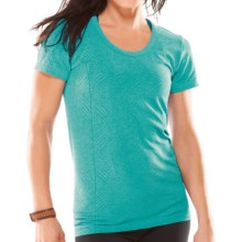 Moving Comfort Flex T-Shirt - Short Sleeve (For Women) in Luxe Heather - Closeouts