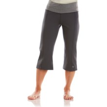 Moving Comfort Flow Capris (For Women) in Ebony/Charcoal Heather - Closeouts