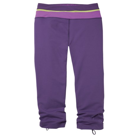 Moving Comfort Flow Capris (For Women) in Twilight
