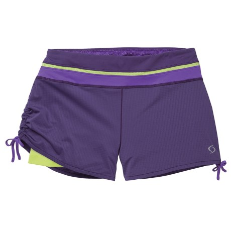 Moving Comfort Flow Mesh Shorts (For Women) in Ocean