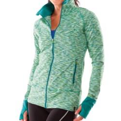 Moving Comfort Foxie Shirt - Full Zip, Long Sleeve (For Women) in Jade Melange