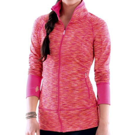 Moving Comfort Foxie Shirt - Full Zip, Long Sleeve (For Women) in Pixie Mc Melange