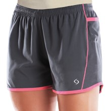 Moving Comfort Frontrunner Shorts - Built-In Brief (For Women) in Ebony/Shimmer - Closeouts