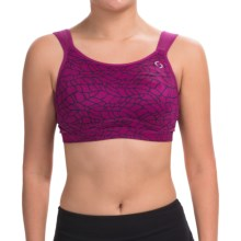 Moving Comfort Maia Sports Bra - High Impact, Underwire (For Women) in Currant Woven - Closeouts