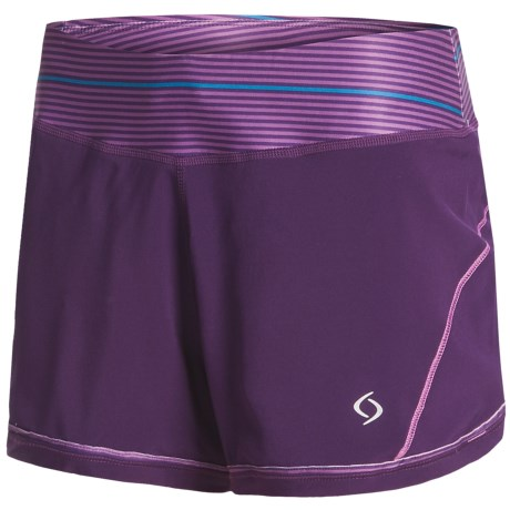 Moving Comfort Momentum Running Short (For Women) in Berry