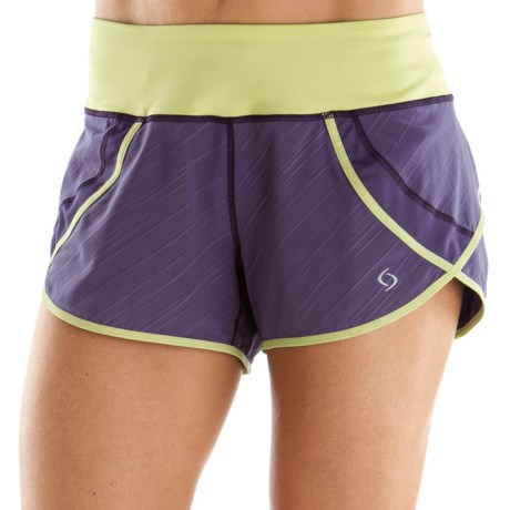 Moving Comfort Momentum Running Short (For Women) in Ocean Lucky Stripe