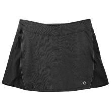 Moving Comfort Momentum Running Skort - Built-In Shorts (For Women) in Black - Closeouts