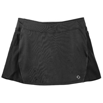 Moving Comfort Momentum Running Skort - Built-In Shorts (For Women) in Black