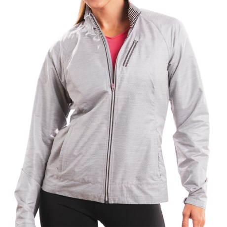 Moving Comfort Sprint Jacket (For Women) in Charcoal Heather/White Urban S