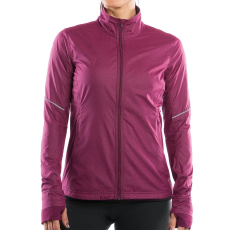 Moving Comfort Sprint Jacket (For Women) in Crimson Crosshatch