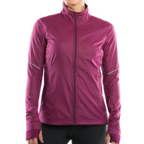 Moving Comfort Sprint Jacket (For Women) in Crimson Crosshatch
