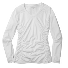 Moving Comfort Sprint Shirt - Long Sleeve (For Women) in White - Closeouts