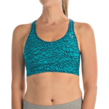 Moving Comfort Switch It Up Racer Sports Bra (For Women) in Azure Woven - Closeouts
