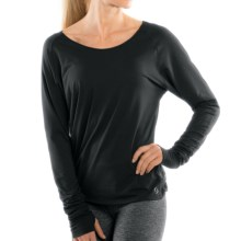 Moving Comfort Twist Open Back Shirt - Long Sleeve (For Women) in Black - Closeouts