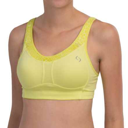 Moving Comfort Vero Sports Bra - Medium Impact (For Women) in Celery - Closeouts