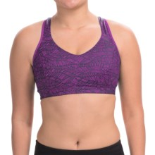Moving Comfort Vixen Sports Bra - High Impact, Racerback (For Women) in Currant Lace - Closeouts