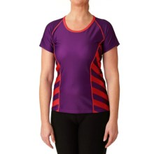 Moxie Cycling Color-Block Tee Cycling Jersey - UPF 50+ (For Women) in Iris/Violet/Coral - Closeouts