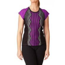 Moxie Cycling Color-Block Tee Cycling Jersey - UPF 50+ (For Women) in Violet/White/Black - Closeouts