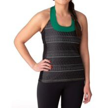 Moxie Cycling T-Back Cycling Jersey - Scoop Neck (For Women) in Black/Emerald - Closeouts